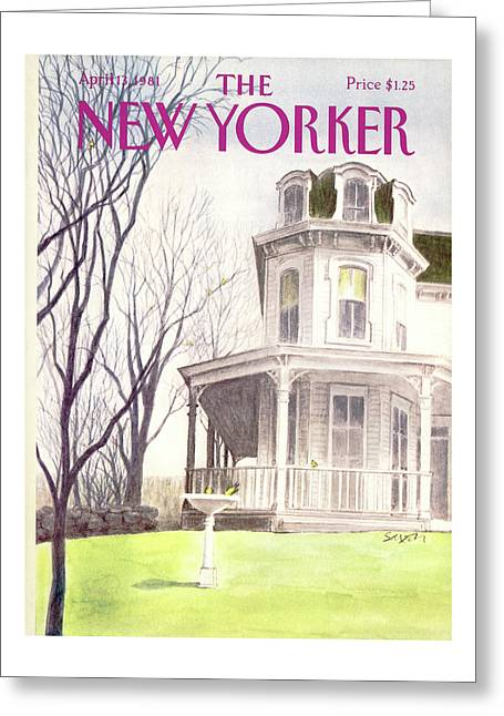 New Yorker April 13th, 1981 Greeting Card