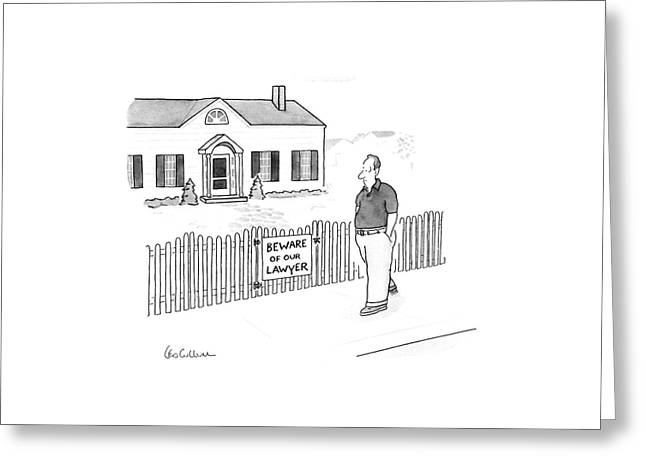 New Yorker April 13th, 1987 Greeting Card by Leo Cullum