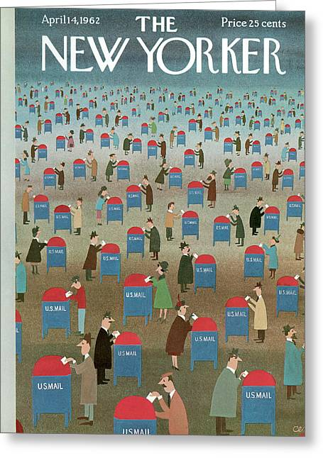 New Yorker April 14th, 1962 Greeting Card by Charles E. Martin