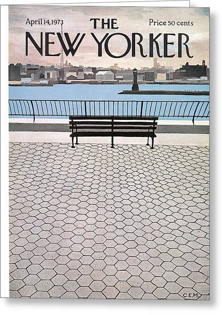 New Yorker April 14th, 1973 Greeting Card by Charles E. Martin