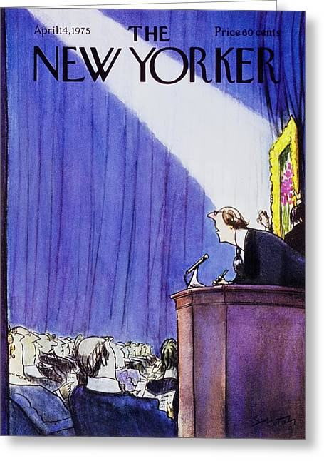 New Yorker April 14th 1975 Greeting Card