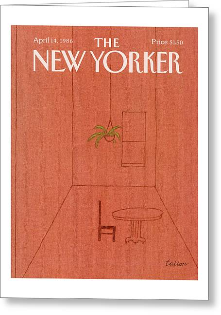 New Yorker April 14th, 1986 Greeting Card