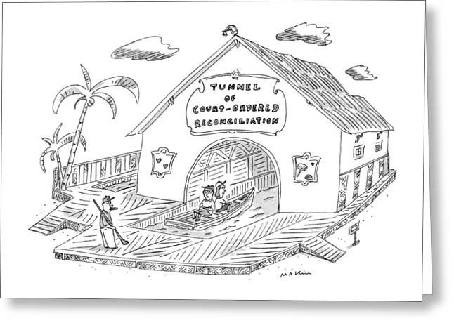New Yorker April 14th, 1997 Greeting Card by Michael Maslin