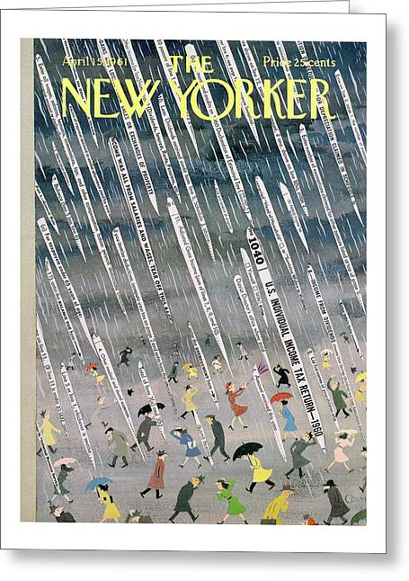 New Yorker April 15th, 1961 Greeting Card