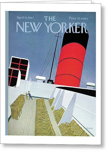 New Yorker April 15th, 1967 Greeting Card