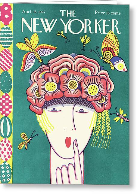 New Yorker April 16th, 1927 Greeting Card
