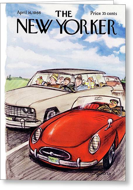 New Yorker April 16th, 1966 Greeting Card