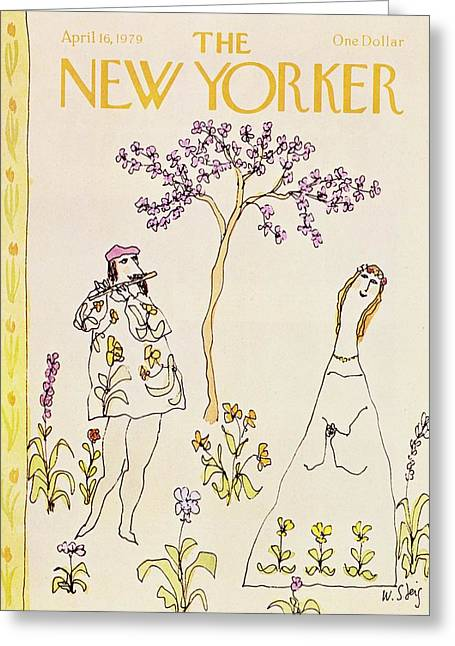 New Yorker April 16th 1979 Greeting Card