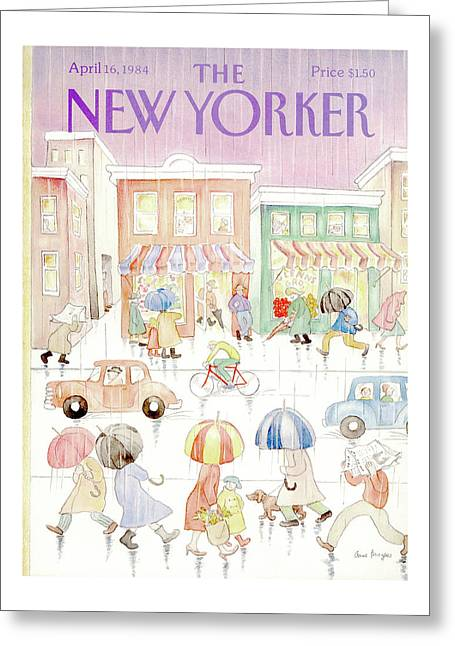 New Yorker April 16th, 1984 Greeting Card