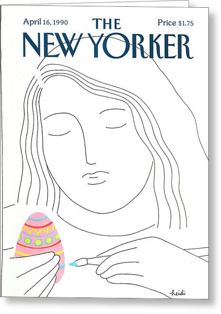 New Yorker April 16th, 1990 Greeting Card by Heidi Goennel