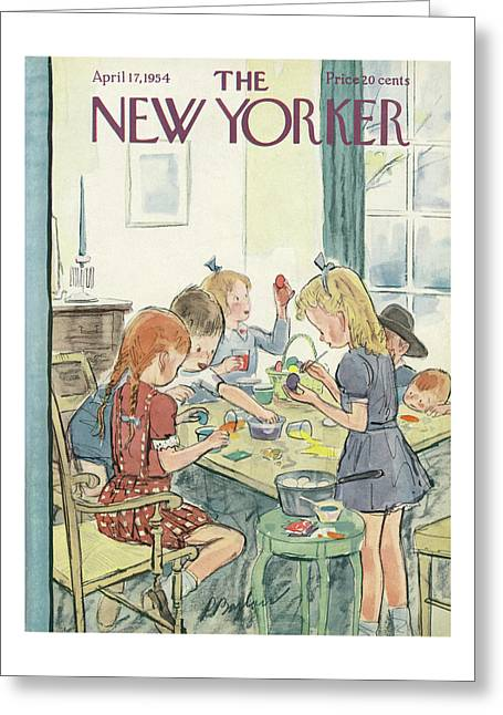 New Yorker April 17th, 1954 Greeting Card