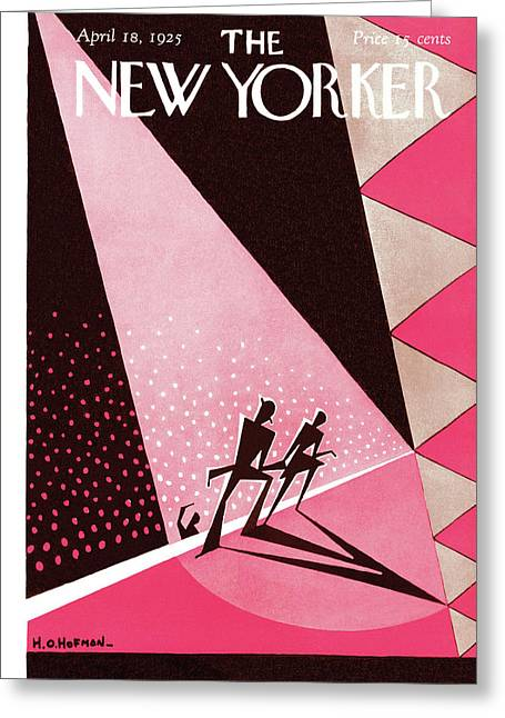 New Yorker April 18th, 1925 Greeting Card by H.O. Hofman