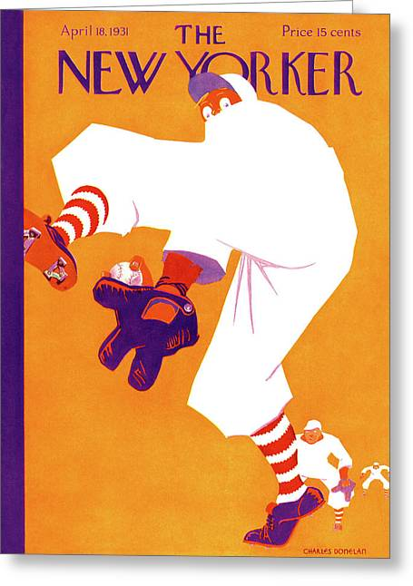 New Yorker April 18th, 1931 Greeting Card by Charles Donelan