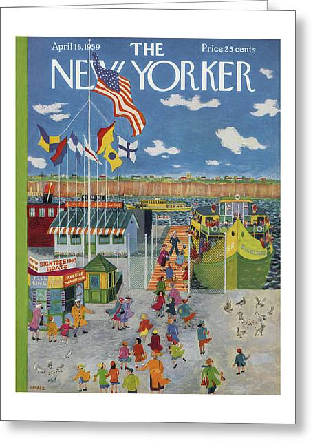 New Yorker April 18th, 1959 Greeting Card