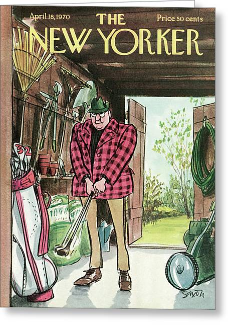 New Yorker April 18th, 1970 Greeting Card by Charles Saxon