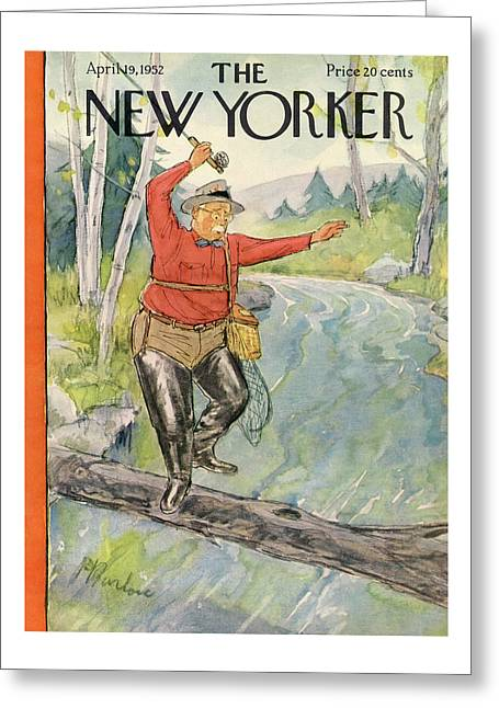 New Yorker April 19th, 1952 Greeting Card