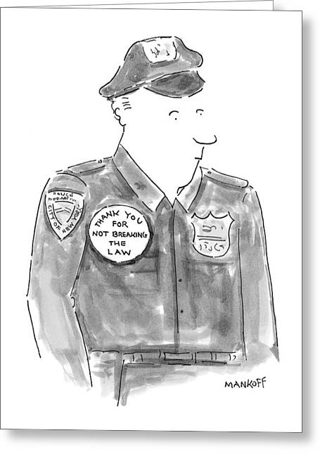 New Yorker April 19th, 1999 Greeting Card by Robert Mankoff