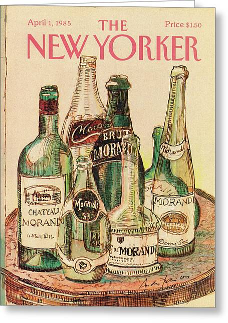 New Yorker April 1st, 1985 Greeting Card by Andre Francois