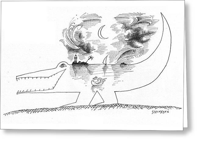 New Yorker April 21st, 1962 Greeting Card by Saul Steinberg