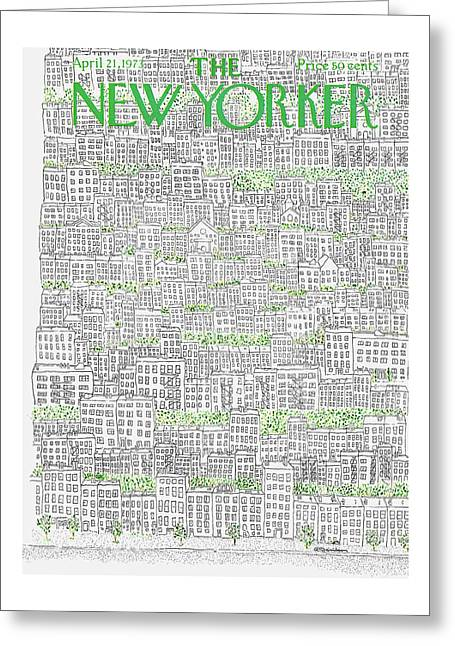 New Yorker April 21st, 1973 Greeting Card