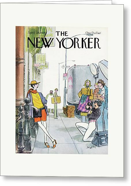New Yorker April 21st, 1980 Greeting Card by Charles Saxon