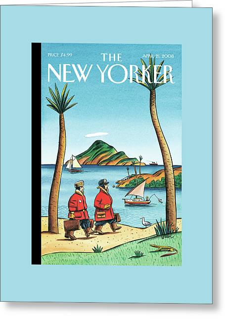New Yorker April 21st, 2008 Greeting Card by Jacques de Loustal