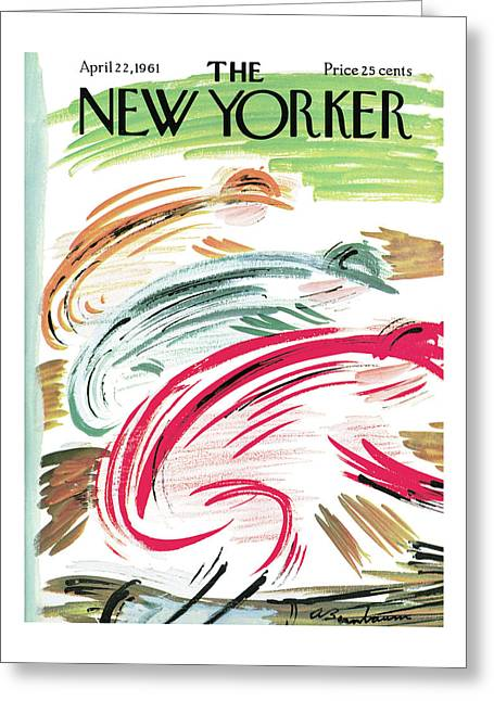 New Yorker April 22nd, 1961 Greeting Card