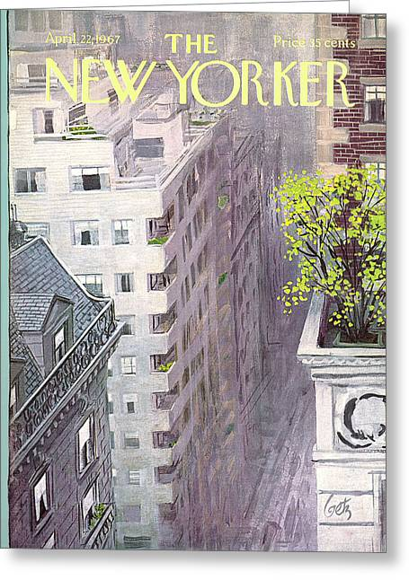 New Yorker April 22nd, 1967 Greeting Card