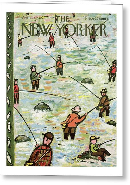 New Yorker April 23rd, 1955 Greeting Card