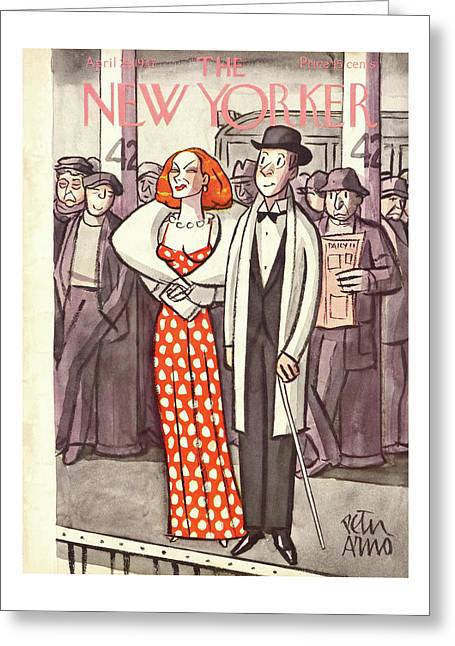 New Yorker April 24th, 1937 Greeting Card