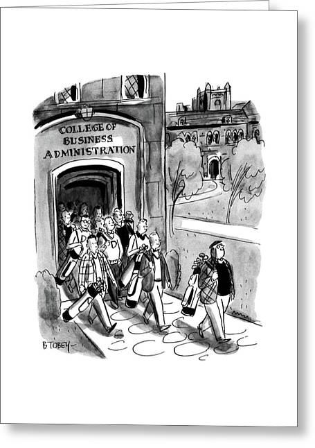 New Yorker April 24th, 1954 Greeting Card