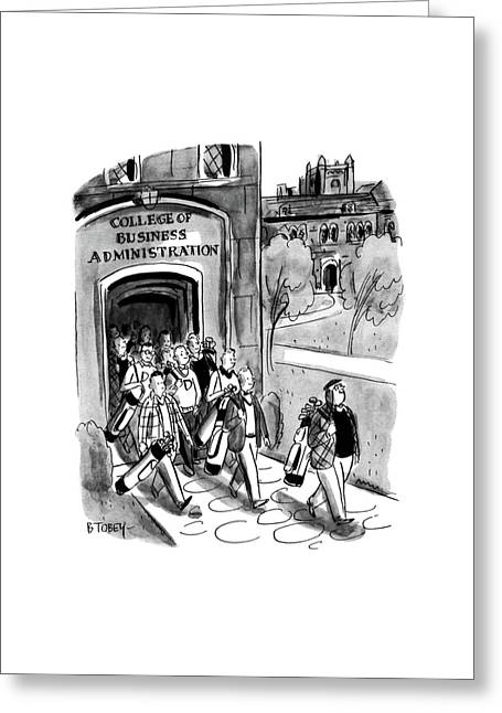 New Yorker April 24th, 1954 Greeting Card by Barney Tobey