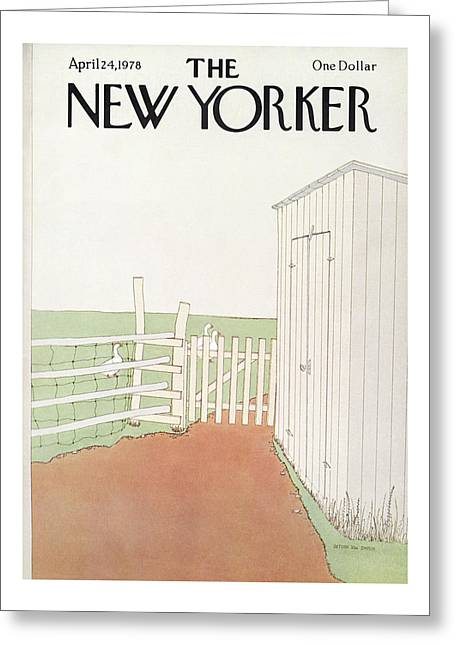 New Yorker April 24th, 1978 Greeting Card