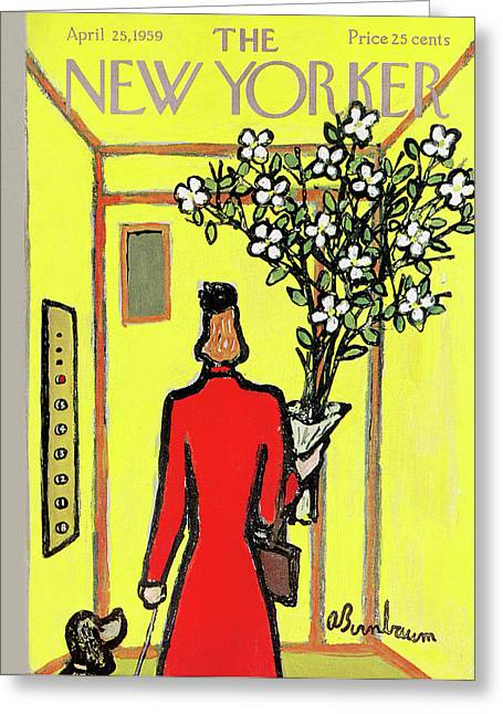 New Yorker April 25th, 1959 Greeting Card
