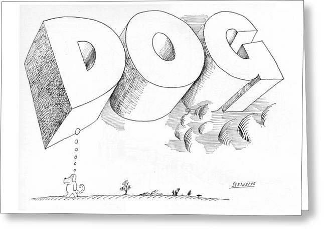 New Yorker April 25th, 1970 Greeting Card by Saul Steinberg