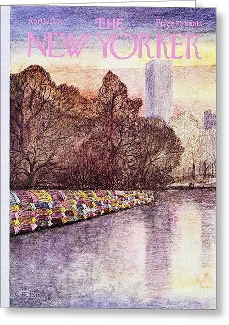 New Yorker April 25th 1977 Greeting Card