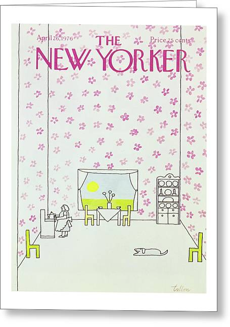 New Yorker April 26th 1976 Greeting Card