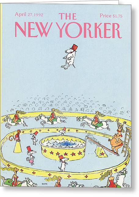 New Yorker April 27th, 1992 Greeting Card by George Booth
