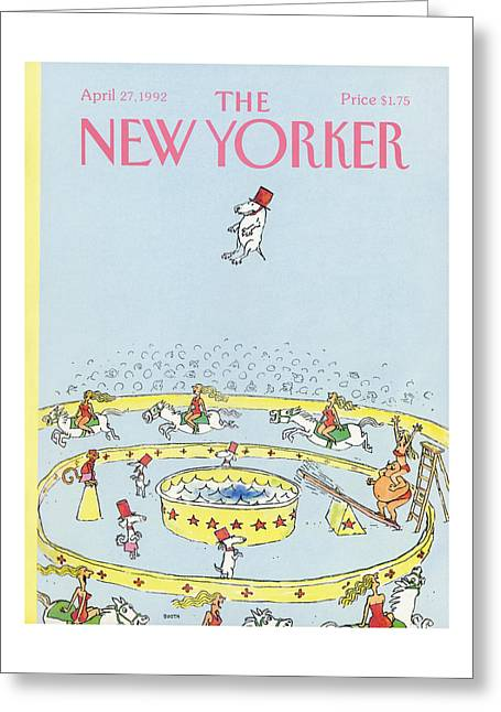 New Yorker April 27th, 1992 Greeting Card