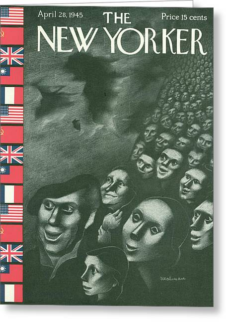 New Yorker April 28th, 1945 Greeting Card