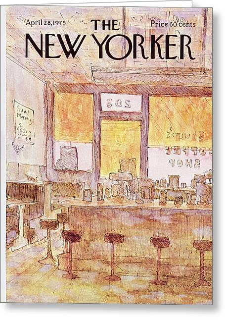 New Yorker April 28th 1975 Greeting Card by James Stevenson