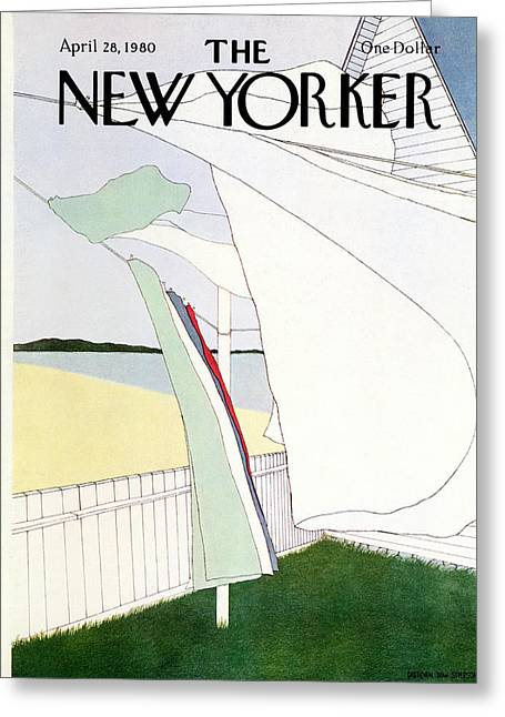 New Yorker April 28th, 1980 Greeting Card by Gretchen Dow Simpson