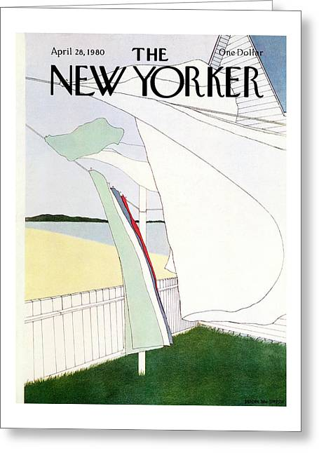 New Yorker April 28th, 1980 Greeting Card
