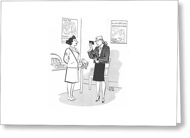 New Yorker April 29th, 1944 Greeting Card