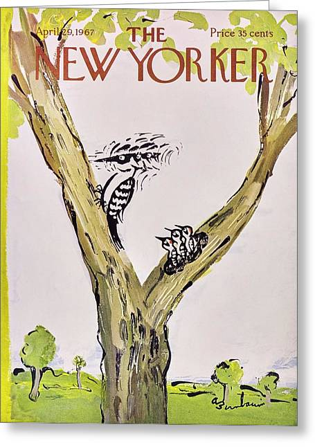 New Yorker April 29th 1967 Greeting Card