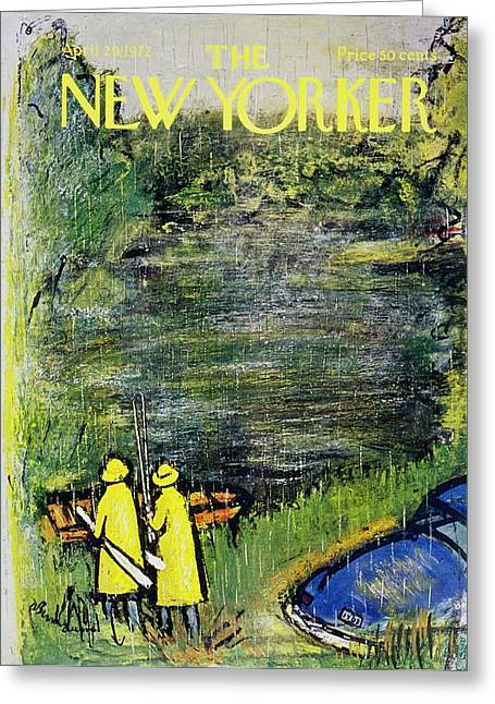 New Yorker April 29th 1972 Greeting Card by Abe Birnbaum