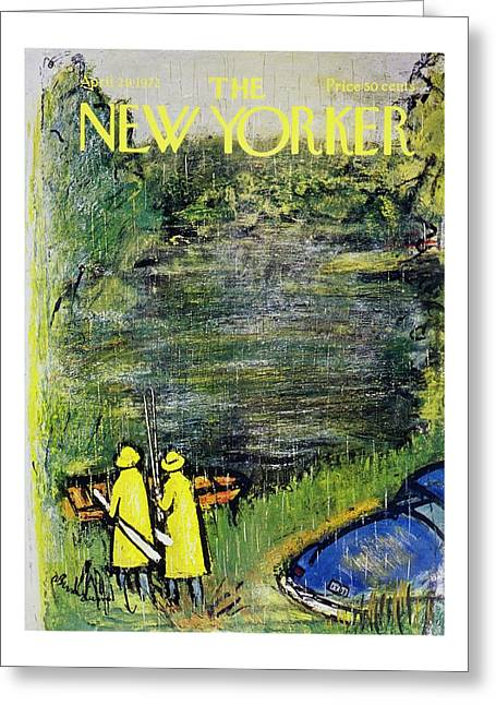 New Yorker April 29th 1972 Greeting Card