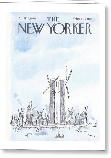 New Yorker April 29th, 1974 Greeting Card