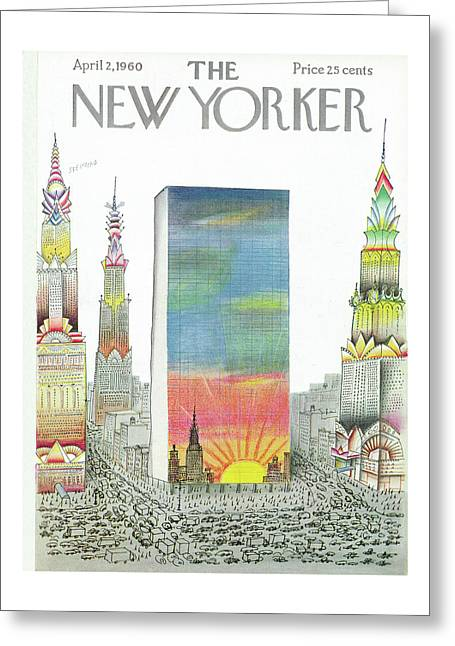 New Yorker April 2nd, 1960 Greeting Card