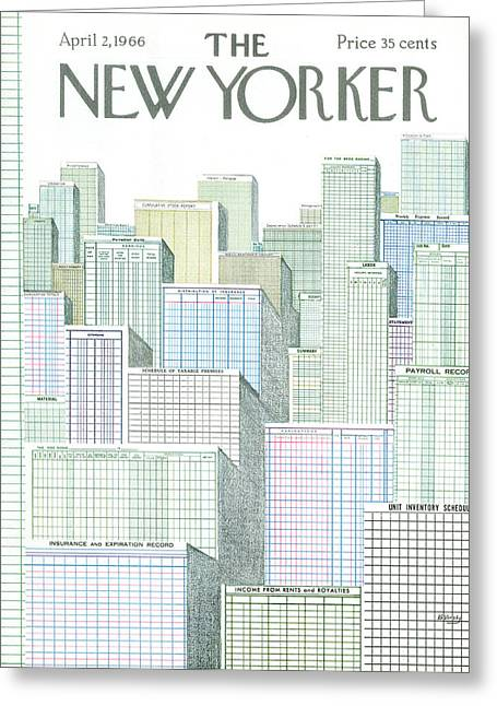 New Yorker April 2nd, 1966 Greeting Card
